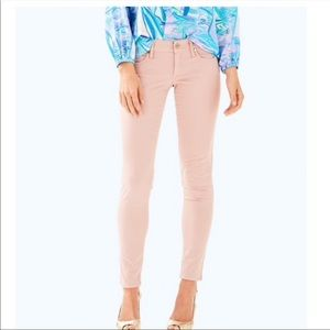 Lilly Pulitzer NWT Stretch Worth Skinny Pants Rose